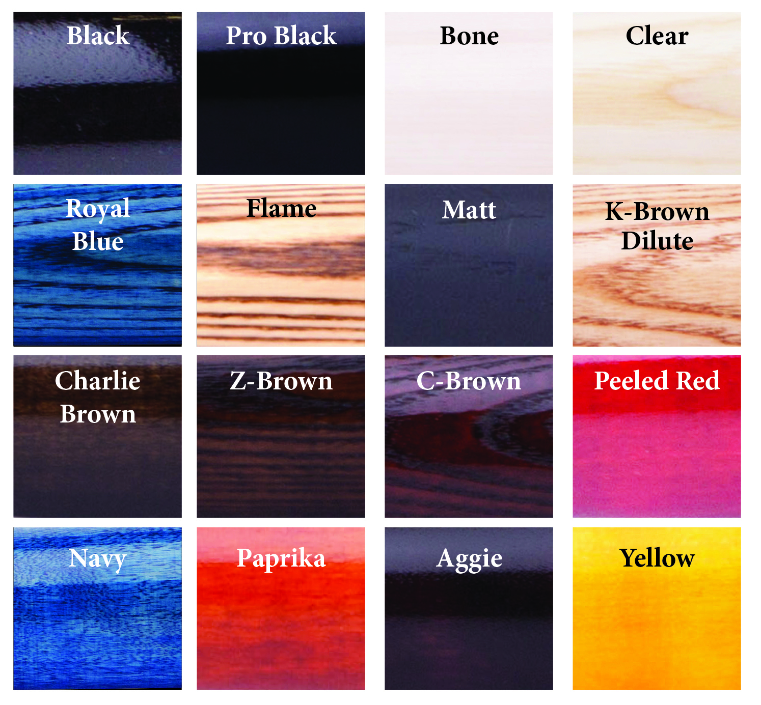 Color chart wood baseball bats abc bats color chart nvjuhfo Choice Image